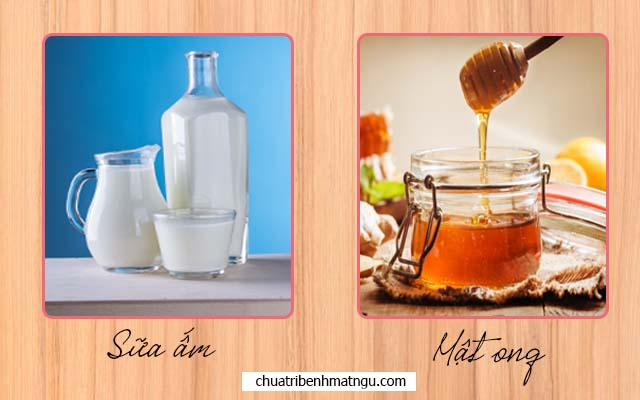 Sữa ấm và mật ong chữa bệnh mất ngủ của người già