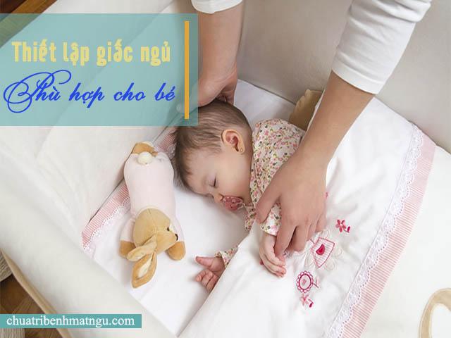 Thiết lập giấc ngủ cho trẻ