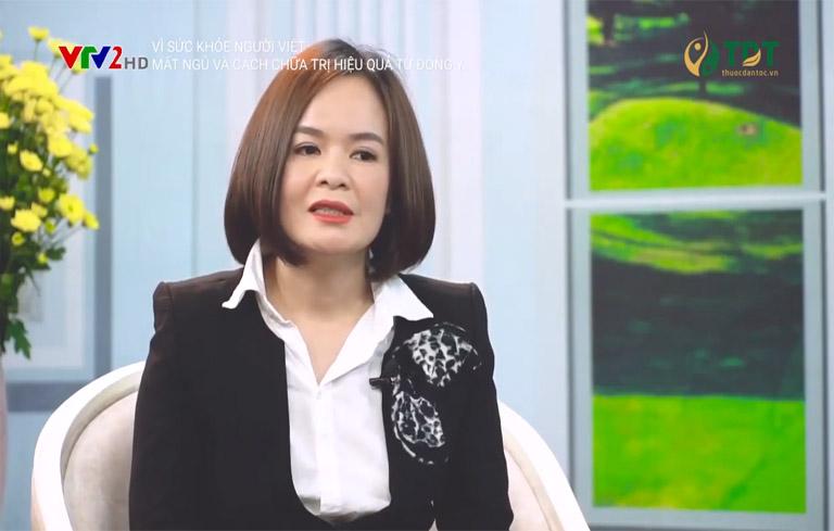 Bác sĩ chữa mất ngủ giỏi Nguyễn Lệ Quyên tư vấn trên VTV2