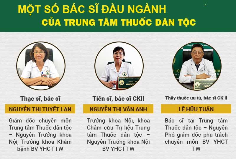 Các bác sĩ đầu ngành YHCT công tác tại Trung tâm Thuốc dân tộc
