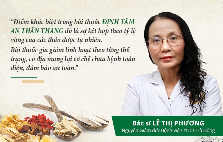 Nhận định của bác sĩ Lê Thị Phương về bài thuốc Định tâm An thần thang