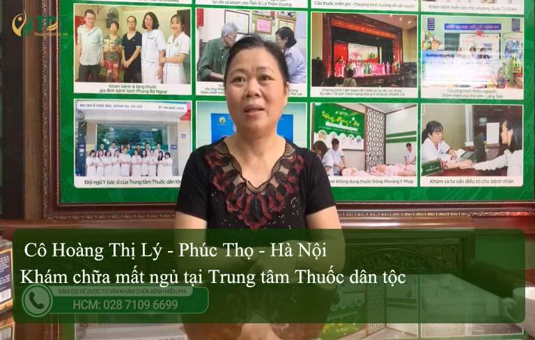 Cô Lý khám chữa mất ngủ tại Trung tâm Thuốc dân tộc