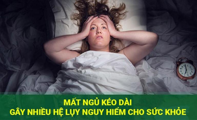 Mất ngủ gây ra nhiều hệ lụy ảnh hưởng tiêu cực tới sức khỏe người bệnh