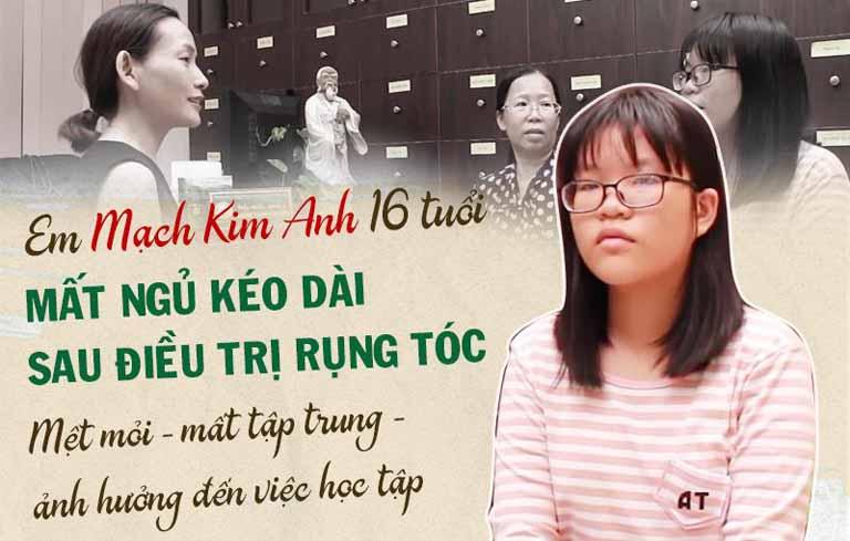 Em Mạch Kim Anh bị mất ngủ trong thời gian dài