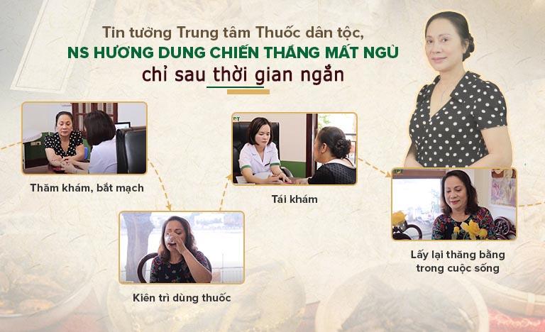 May mắn biết tới thảo dược ngủ ngon của Trung tâm Thuốc dân tộc, NS Hương Dung đã chiến thắng mất ngủ kinh niên