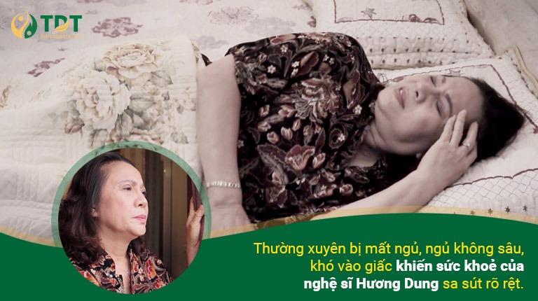 Nghệ sĩ Hương Dung bị mất ngủ kinh niên 7 năm ròng rã