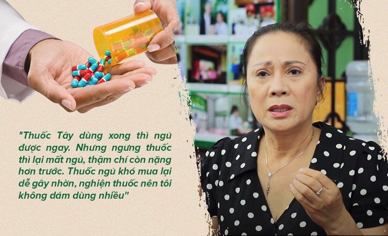 Tác dụng phụ của thuốc ngủ khiến nghệ sĩ Hương Dung vô cùng lo lắng