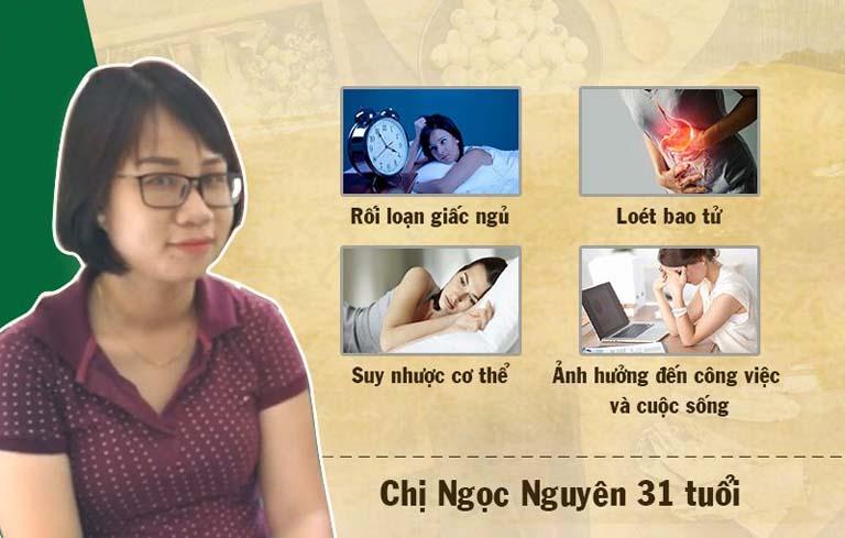 Chị Ngọc Nguyên cũng là nạn nhân của mất ngủ