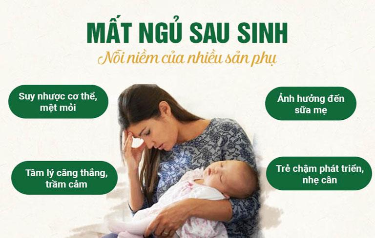 Mất ngủ sau sinh và những hệ lụy không thể bỏ qua