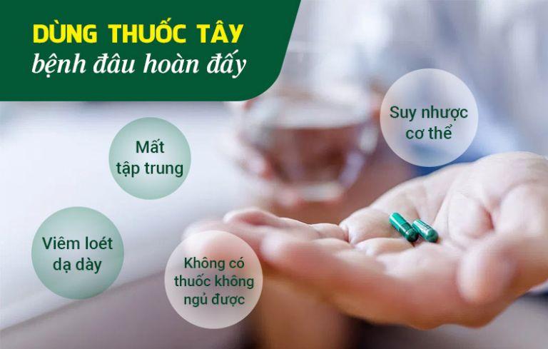 Sử dụng thuốc Tây khiến anh Nam gặp nhiều tác dụng phụ