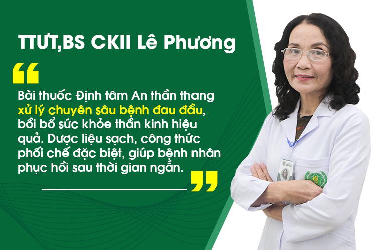 Thầy thuốc Lê Phương nhận định bài thuốc có tính cá nhân hóa, cho hiệu quả cao