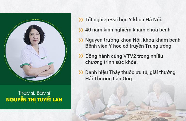 Bác sĩ Nguyễn Thị Tuyết Lan - chuyên gia đầu ngành về Y học cổ truyền